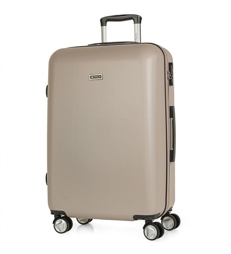 Comprar ITACA Valigia da Viaggio Rigida Media con 4 Ruote T58060 champagne -66x44x26cm-