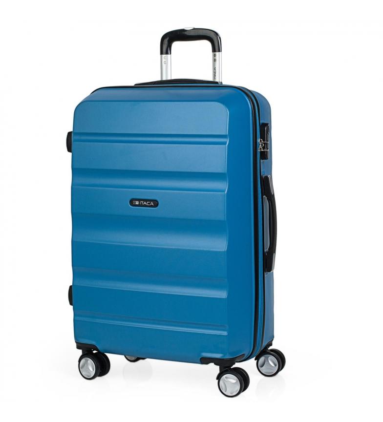 Comprar ITACA Valigia da viaggio a 4 ruote T71660 blu -61x44x26cm