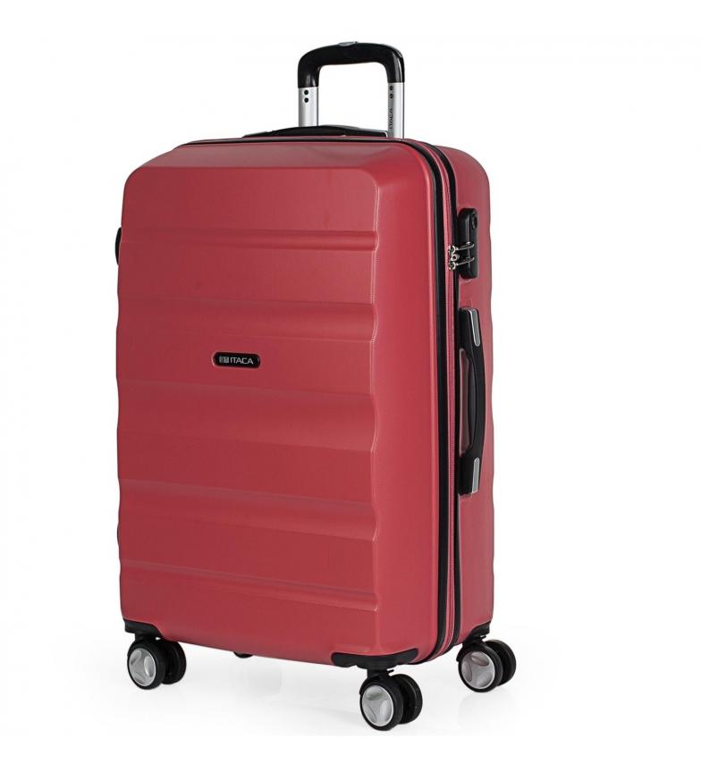 Comprar ITACA Estojo rígido de viagem com 4 rodas T71660 coral -61x44x26cm