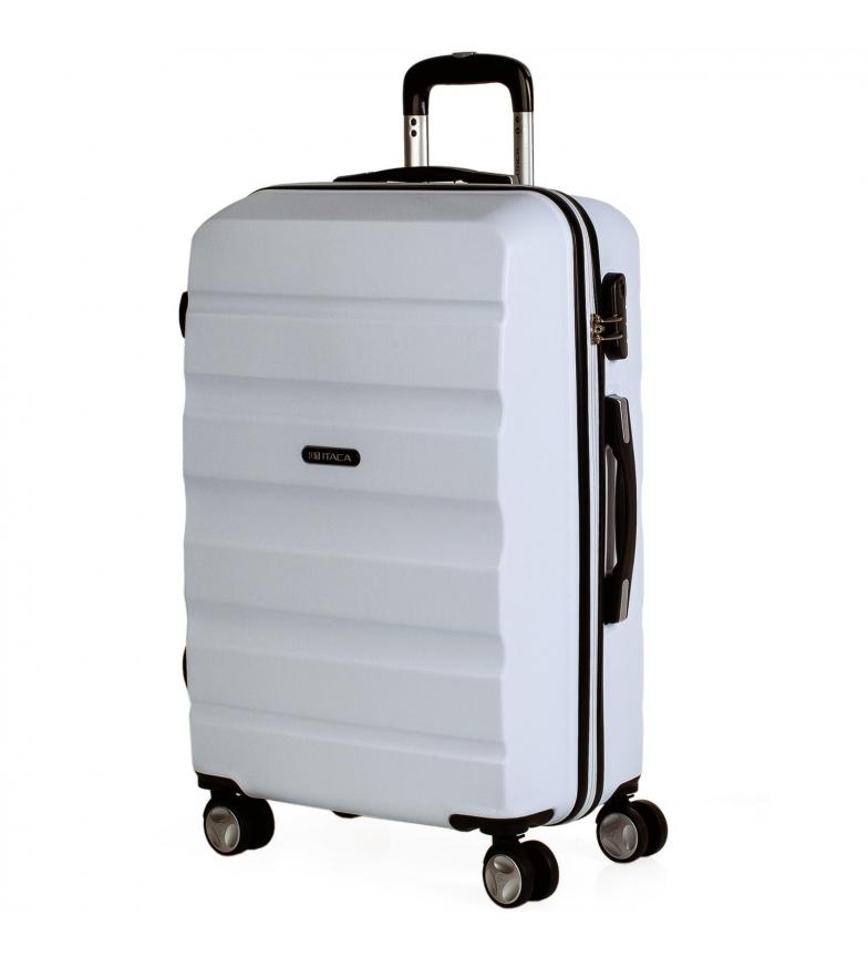 Comprar ITACA Valigia da viaggio a 4 ruote T71660 bianco -61x44x26cm