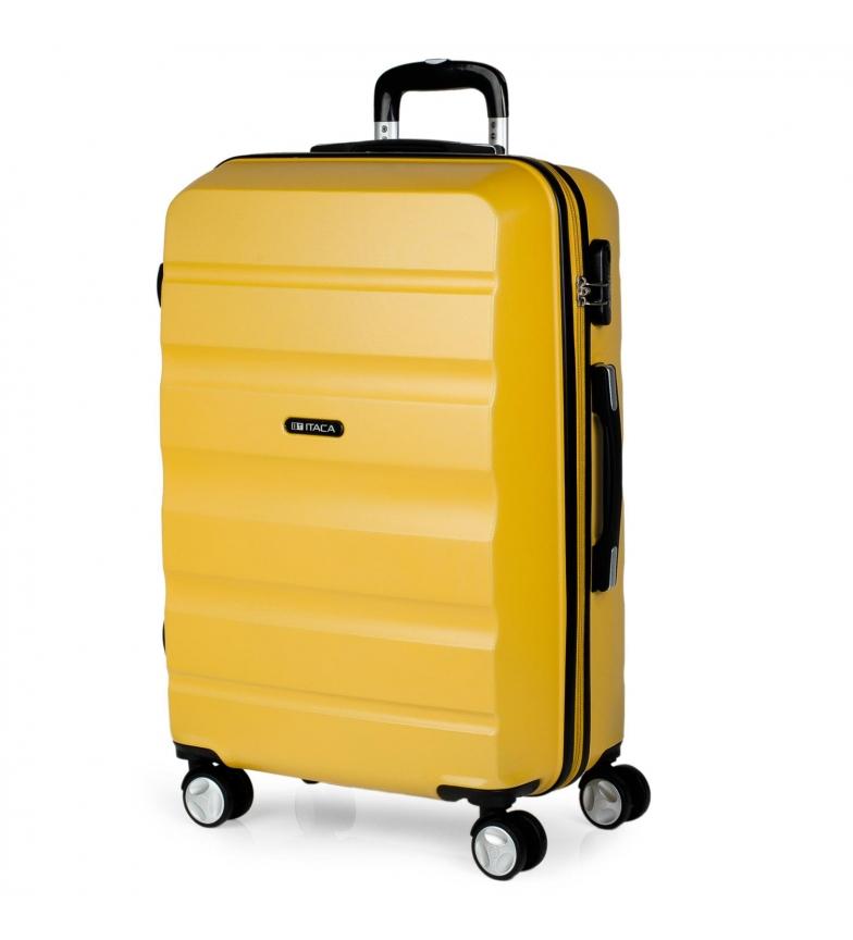 Comprar ITACA Valigia da viaggio a 4 ruote T71660 senape -61x44x26cm