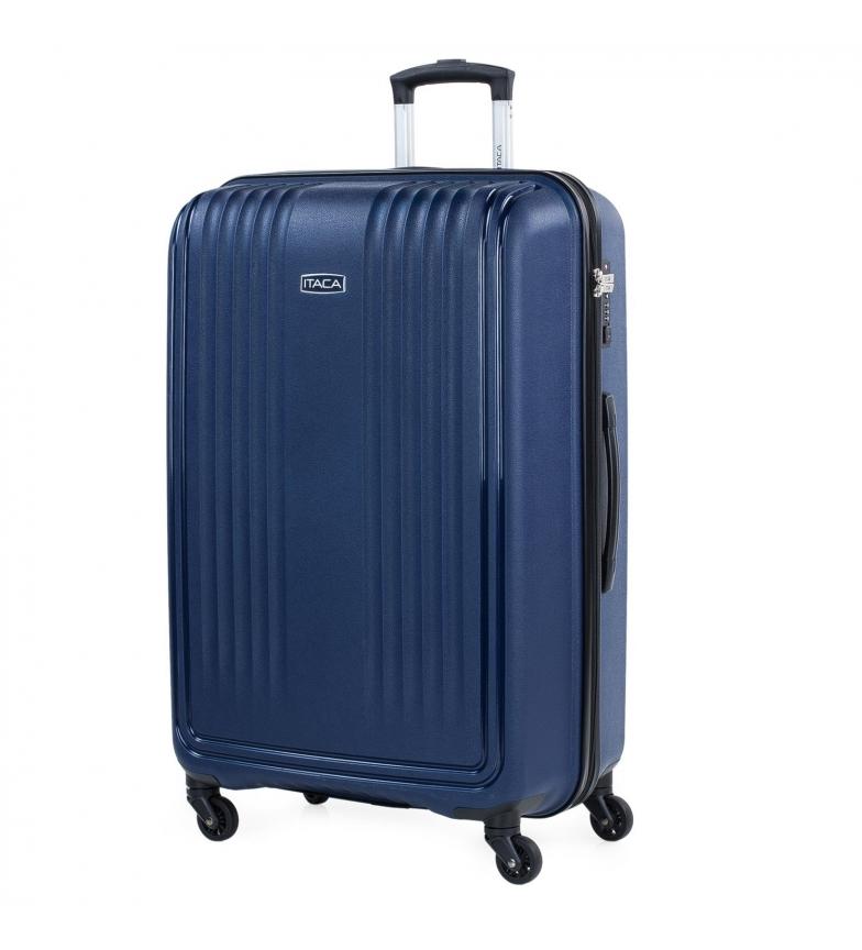 Comprar ITACA Valigia da Viaggio Rigida Grande con 4 ruote 760370 navy -55x77,5x33cm-