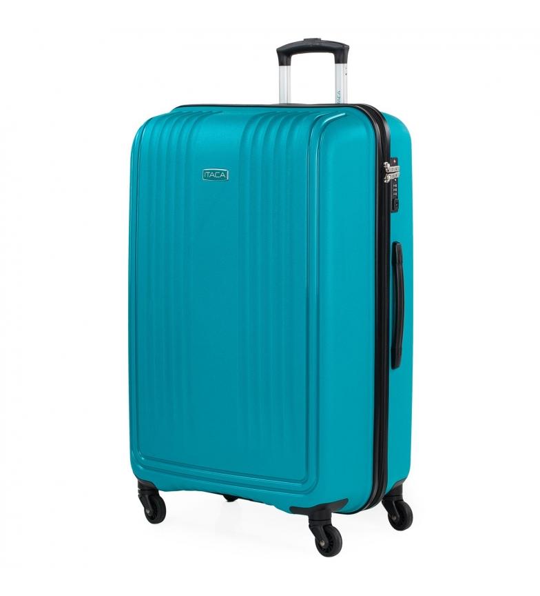 Comprar ITACA Valigia da Viaggio Rigida Grande con 4 ruote 760370 turchese -55x77,5x33cm-