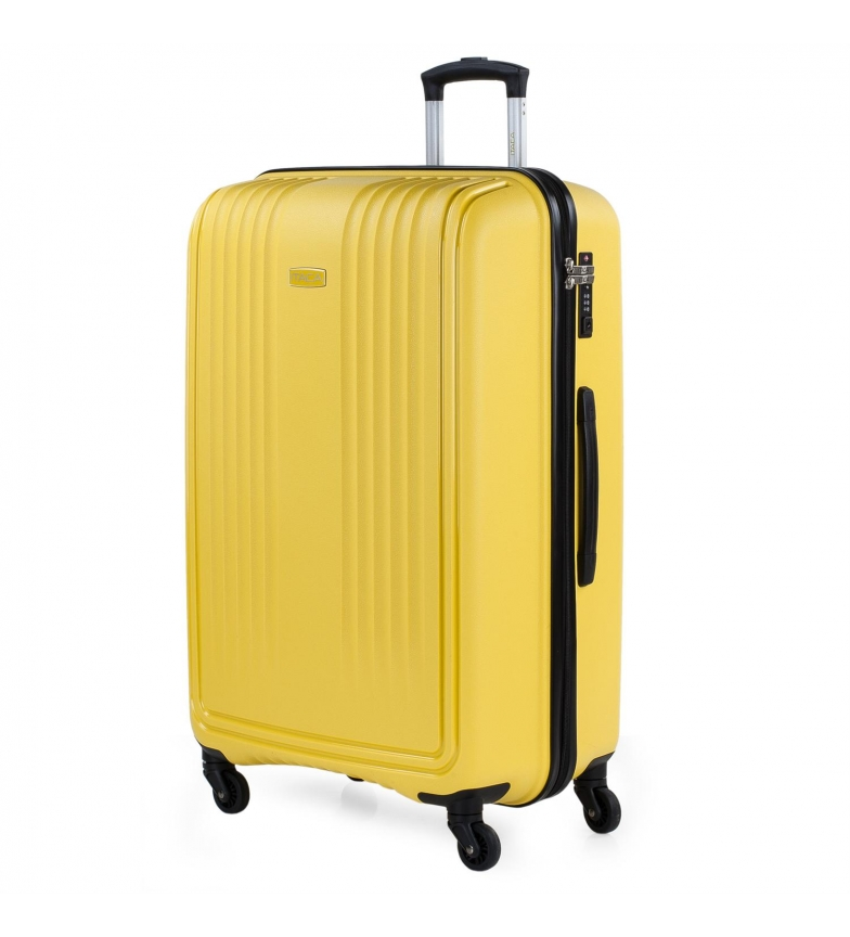 Comprar ITACA Valigia da Viaggio Rigida Grande con 4 ruote 760370 senape -55x77,5x33cm-