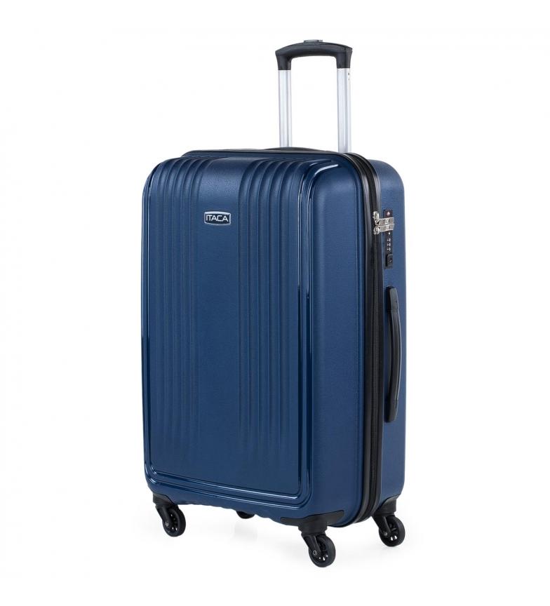 Comprar ITACA Valigia da viaggio rigida media a 4 ruote 760360 marine -45x67,5x30cm