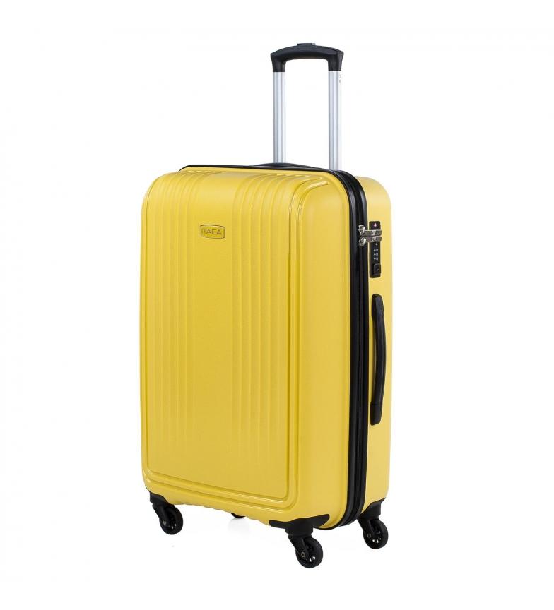 Comprar ITACA Valigetta da viaggio rigida a 4 ruote di medie dimensioni 760360 senape -45x67,5x30cm