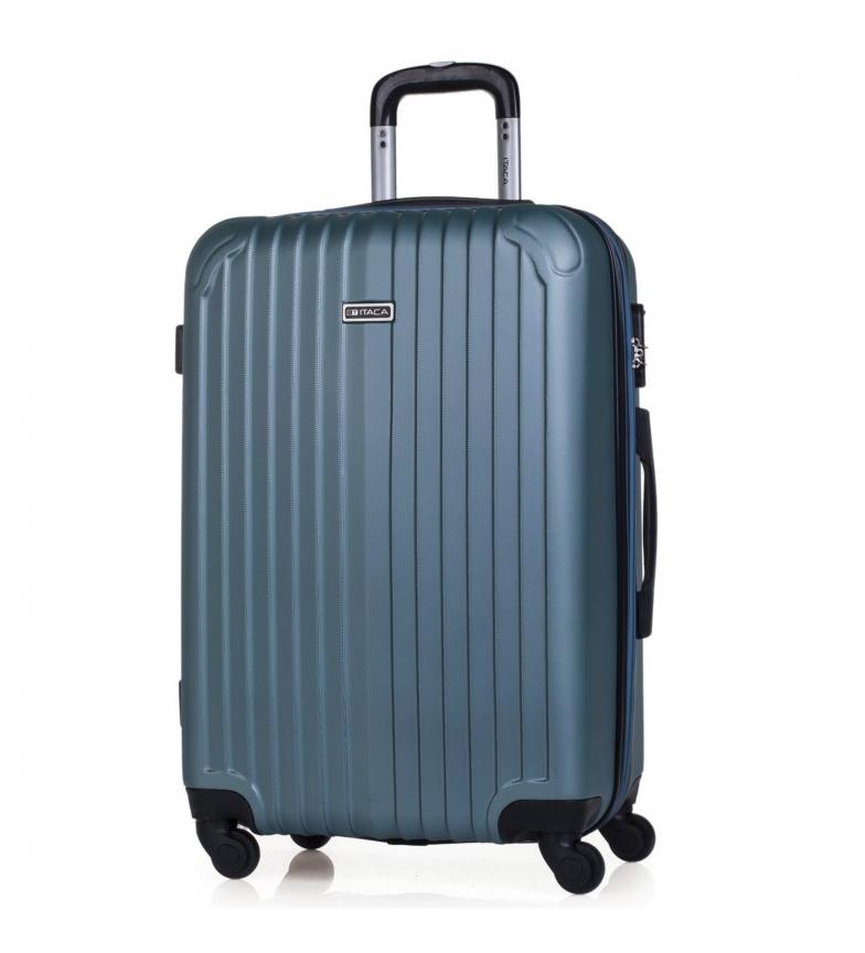 Comprar ITACA Valigia da viaggio rigida a 4 ruote Medium T71560 acquamarina T71560 -66x41x27cm