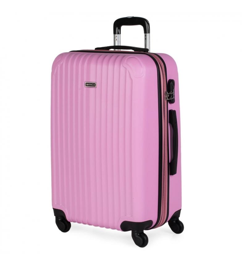 Comprar ITACA Valigia da viaggio a 4 ruote Medium T71560 rosa -66x41x27cm