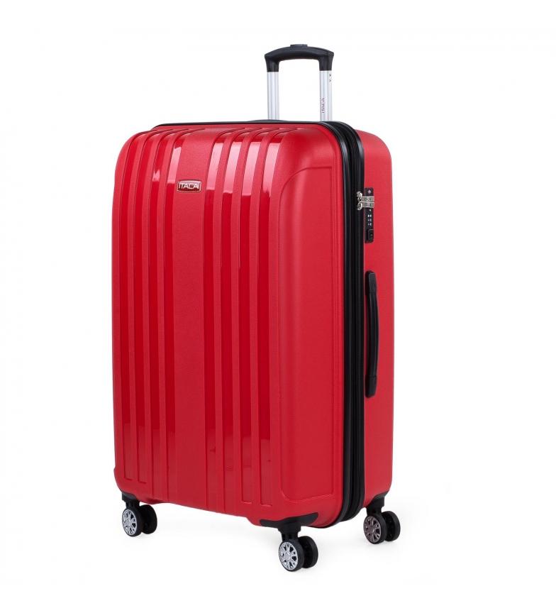 Comprar ITACA Grande custodia rigida espandibile con 4 ruote 760270 rosso -55x77,5x33cm
