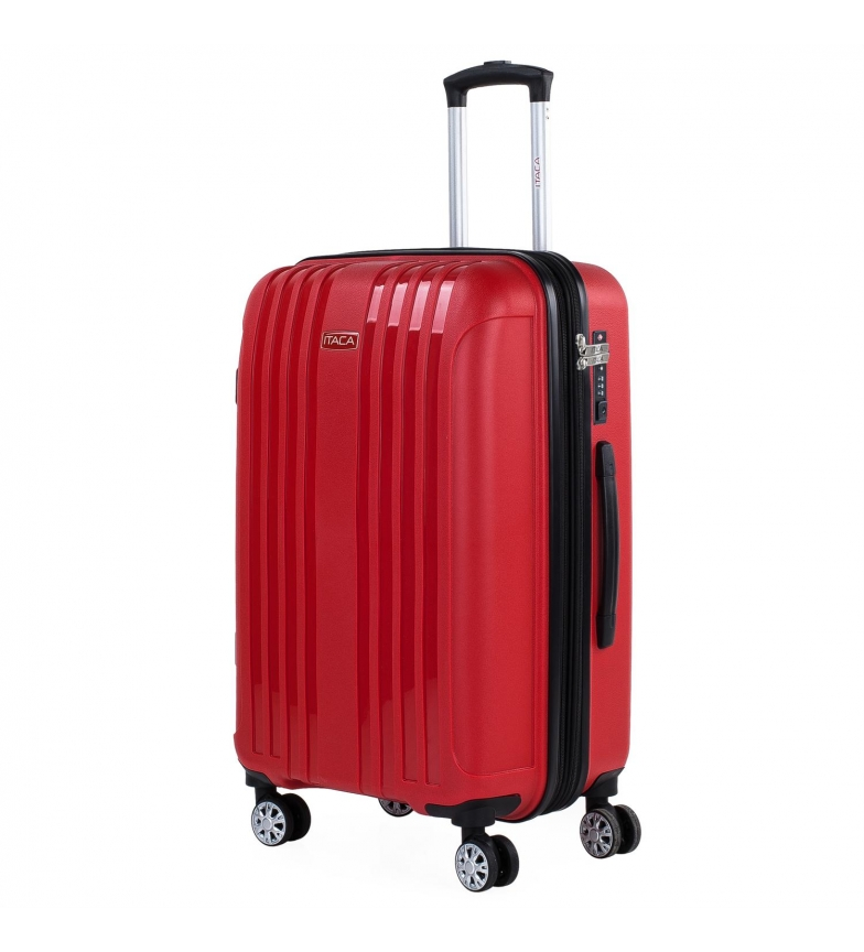 Comprar ITACA Valigia rigida media espandibile con 4 ruote 760260 rosso -45x67,5x30cm