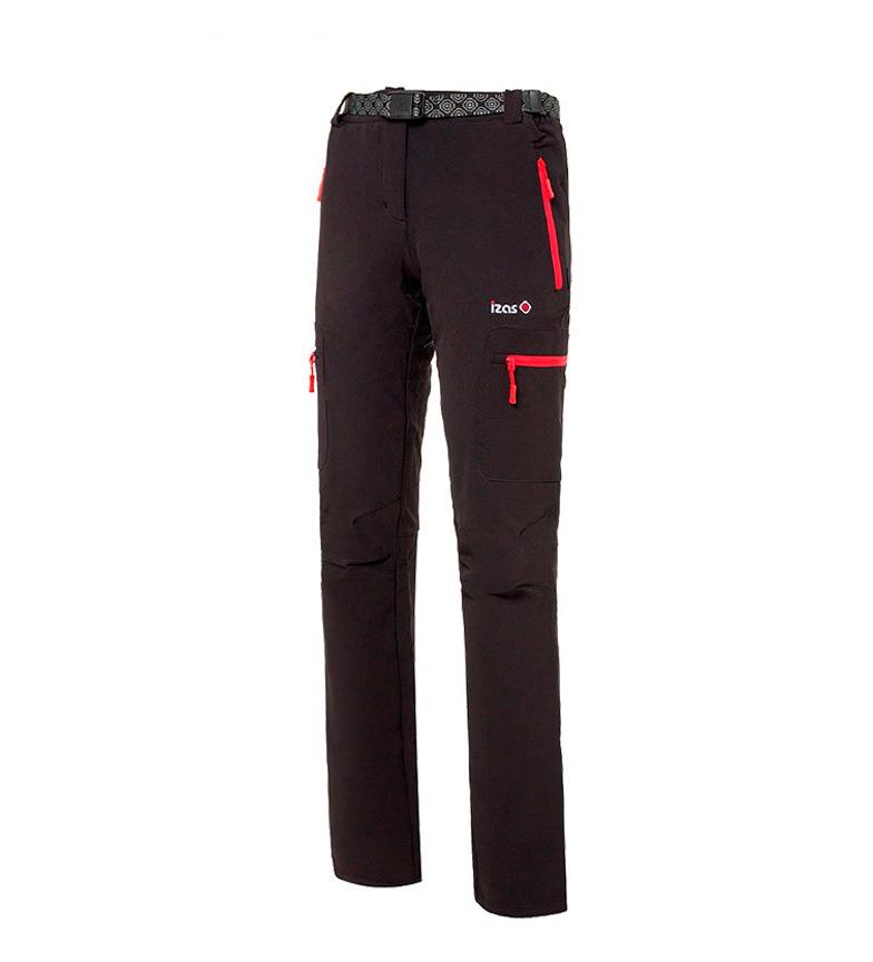 Comprar Izas Pantalón montaña Wengen negro, rojo
