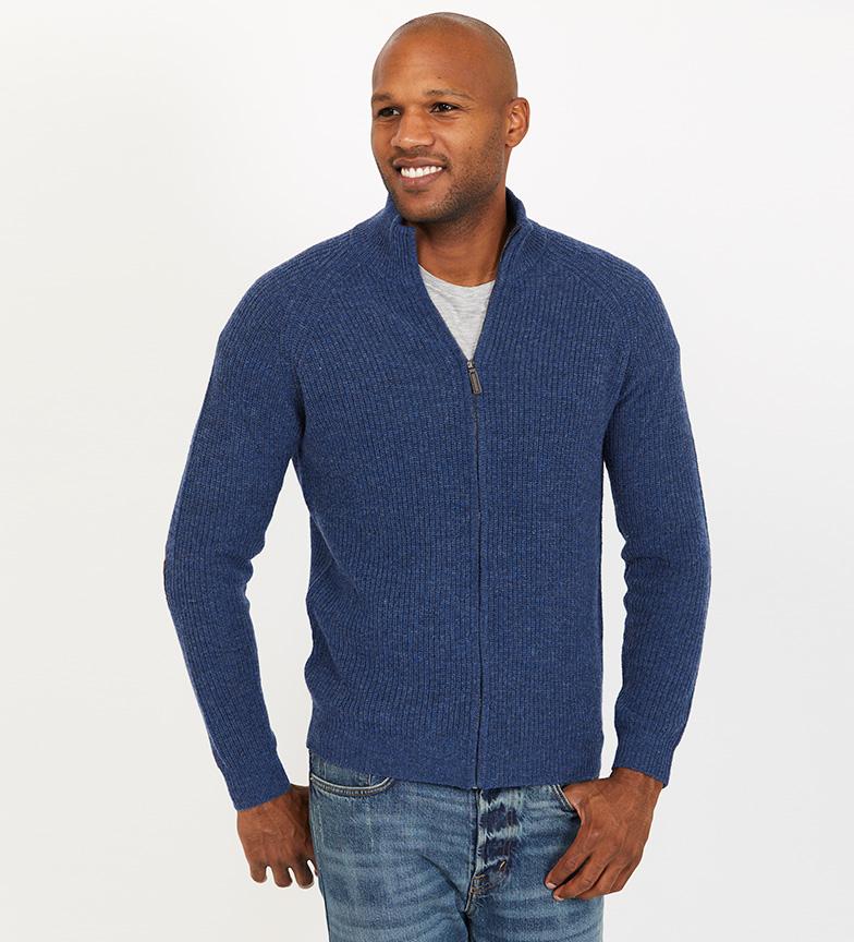Comprar Jack Stuart Patris blue thick ribbed jacket