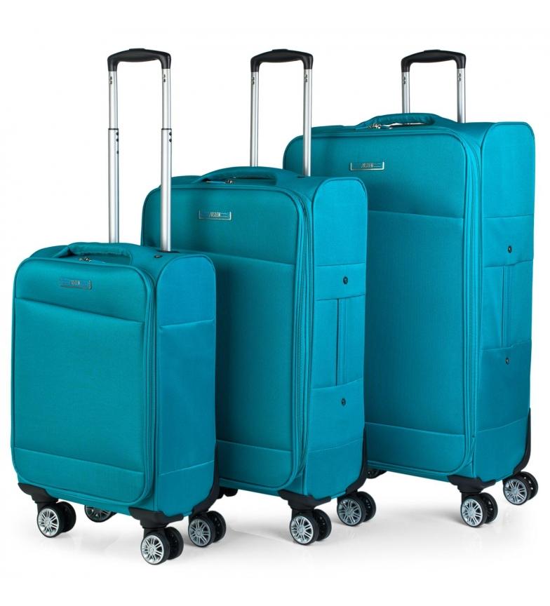Comprar Jaslen Set de 3 Trolleys 101000 esmeralda -35x55x18cm/40x69x22/45x77x24cm-