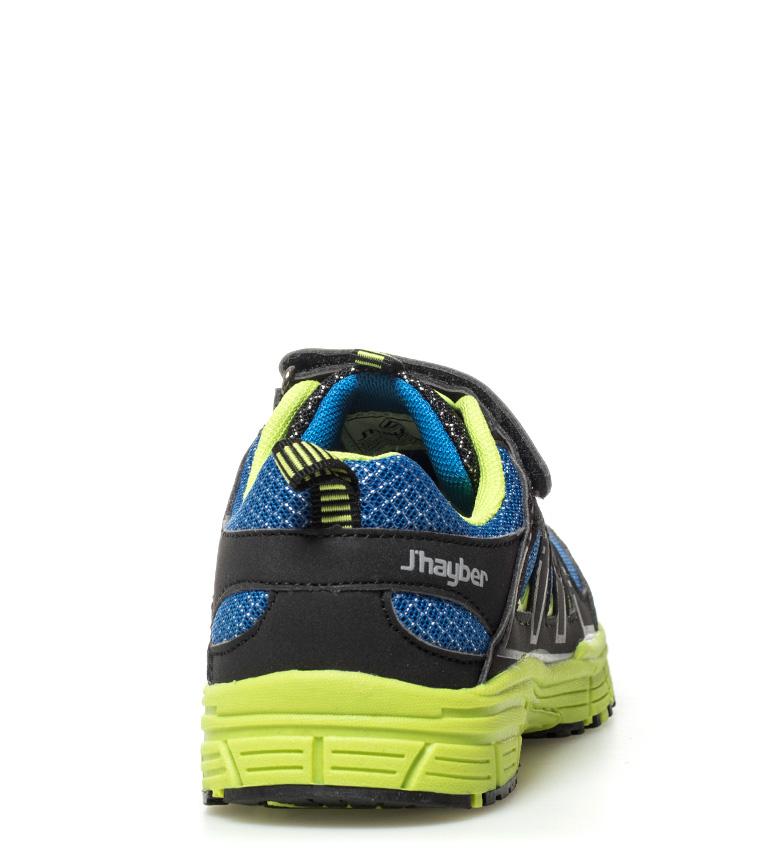 J-Hayber-Chaussures-Rilina-noires-et-orange-Enfants-Bleu-Multicolore-Tissu miniature 5