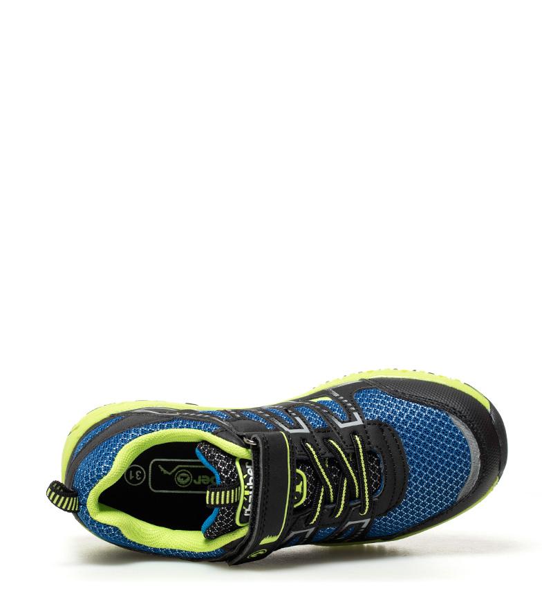 J-Hayber-Chaussures-Rilina-noires-et-orange-Enfants-Bleu-Multicolore-Tissu miniature 7