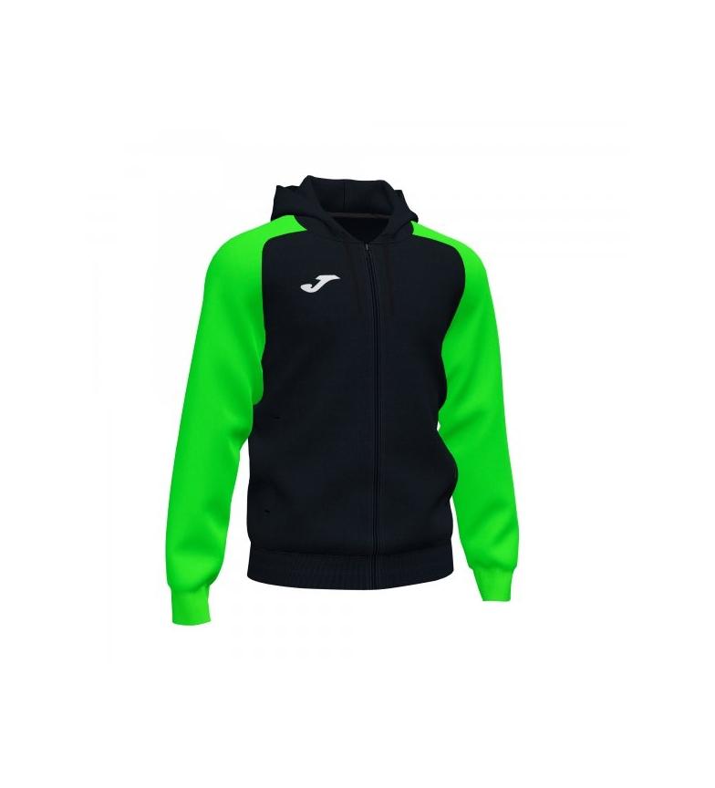 Joma  Chaqueta con Capucha Academy IV Zip-Up negro, verde fluor