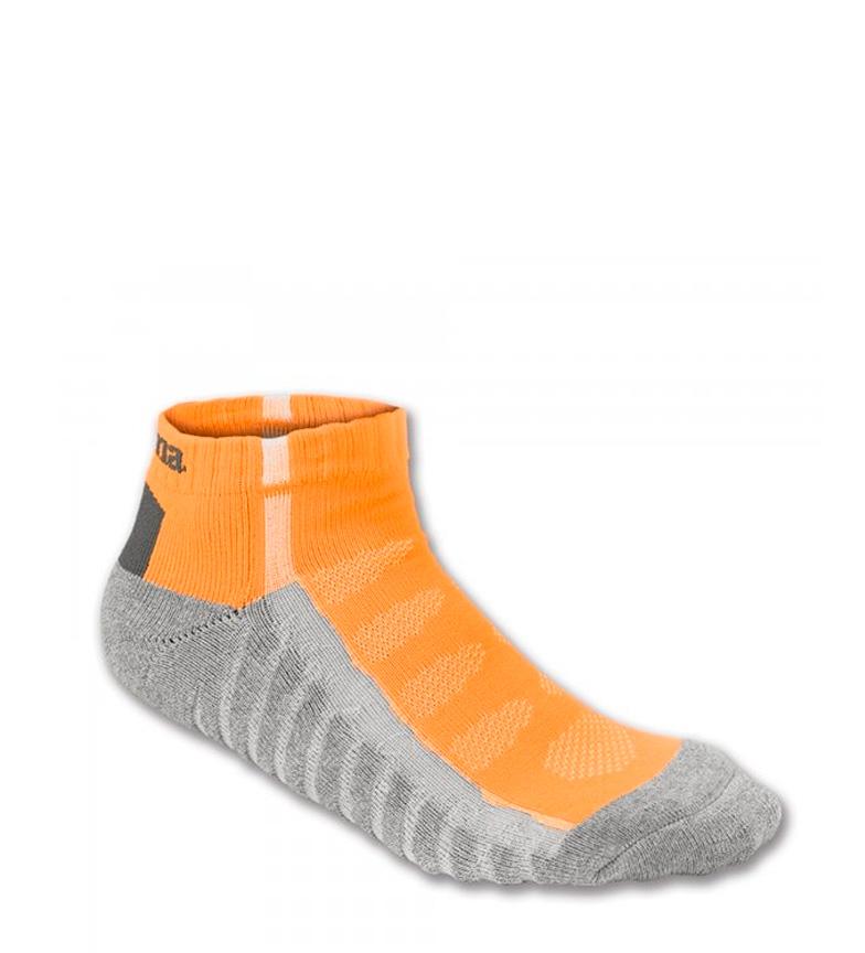 Comprar Joma  Calcetín tobillero Rayas naranja flúor, gris