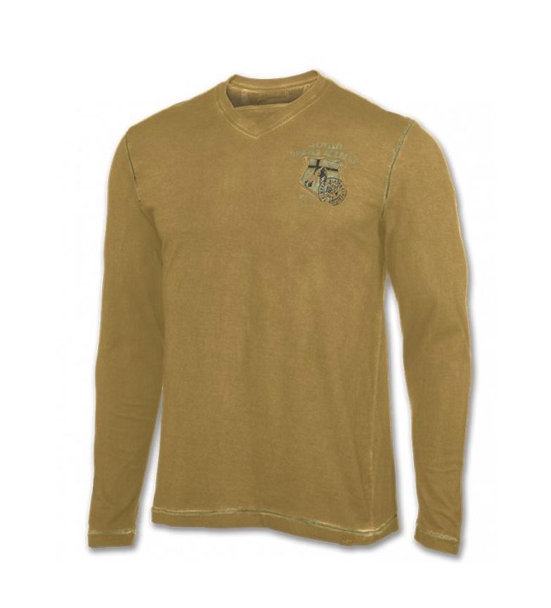 Joma Camiseta m/l Trekking amarillo washed