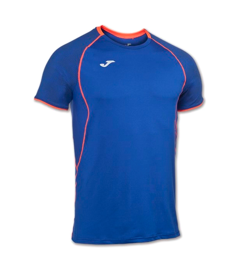 Joma CAMISETA RUNNING OLIMPIA FLASH AZUL M/C