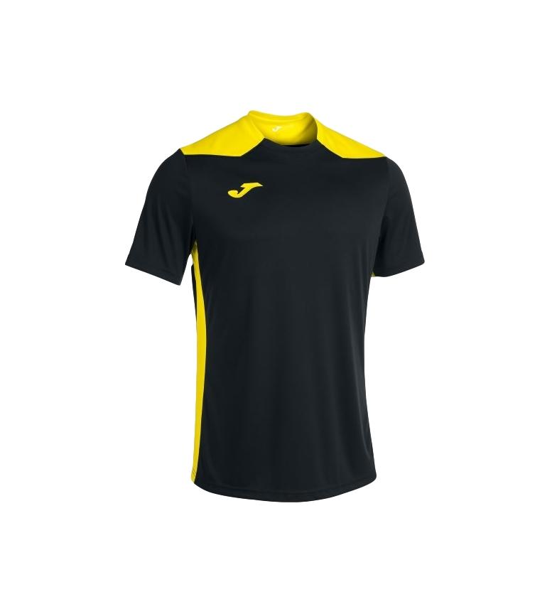 Joma  Camiseta Championship VI Manga Corta negro, amarillo