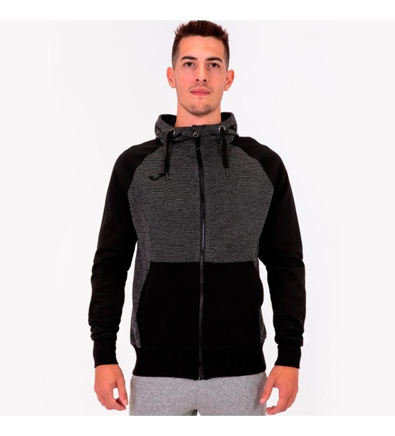 Comprar Joma  Black hooded jacket, melange
