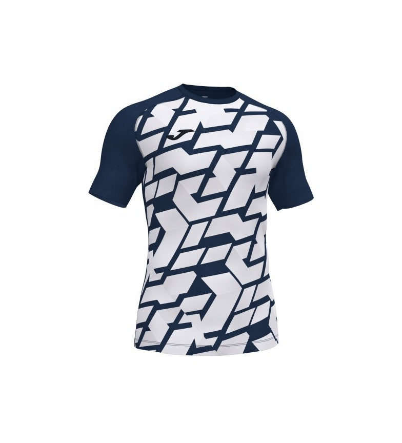 Joma  T-shirt Myskin II blanc, marine