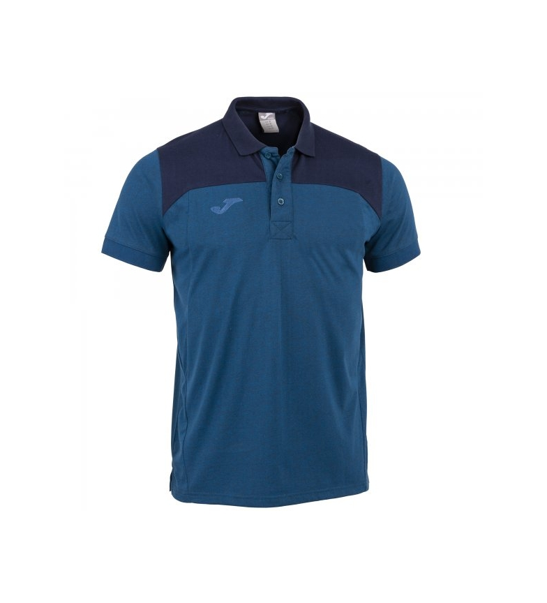 Comprar Joma  Polo Winner II in cotone blu royal-nero m / c