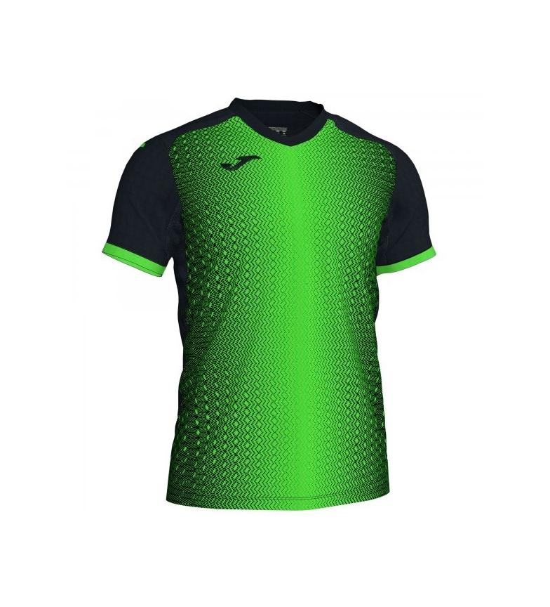 Comprar Joma  SUPERNOVA T-SHIRT BLACK-FLUOR GREEN S/S