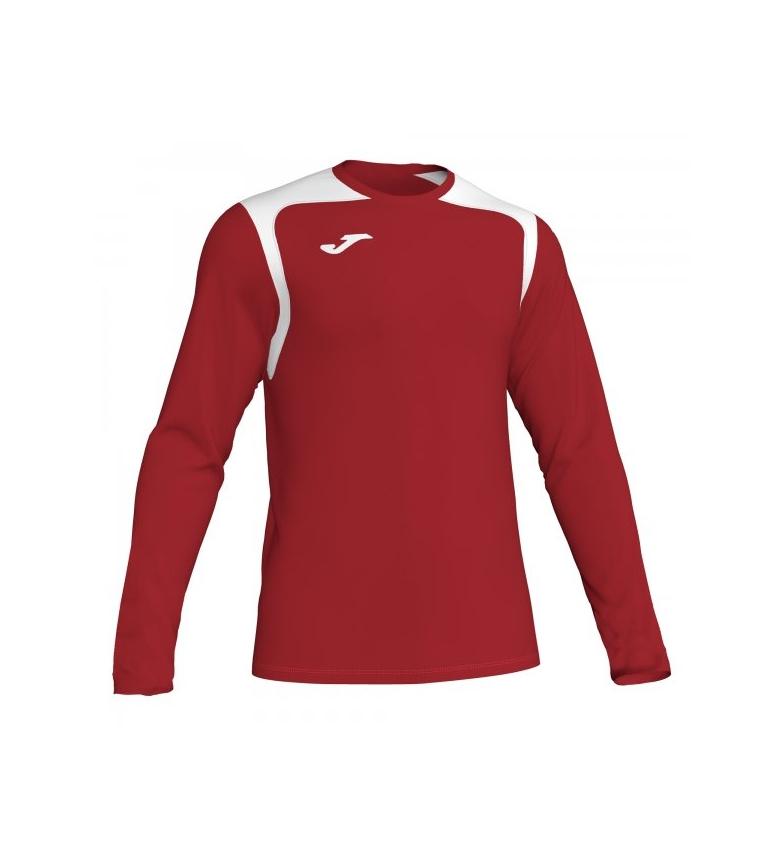 Comprar Joma  T-shirt bianca da campione V rossa