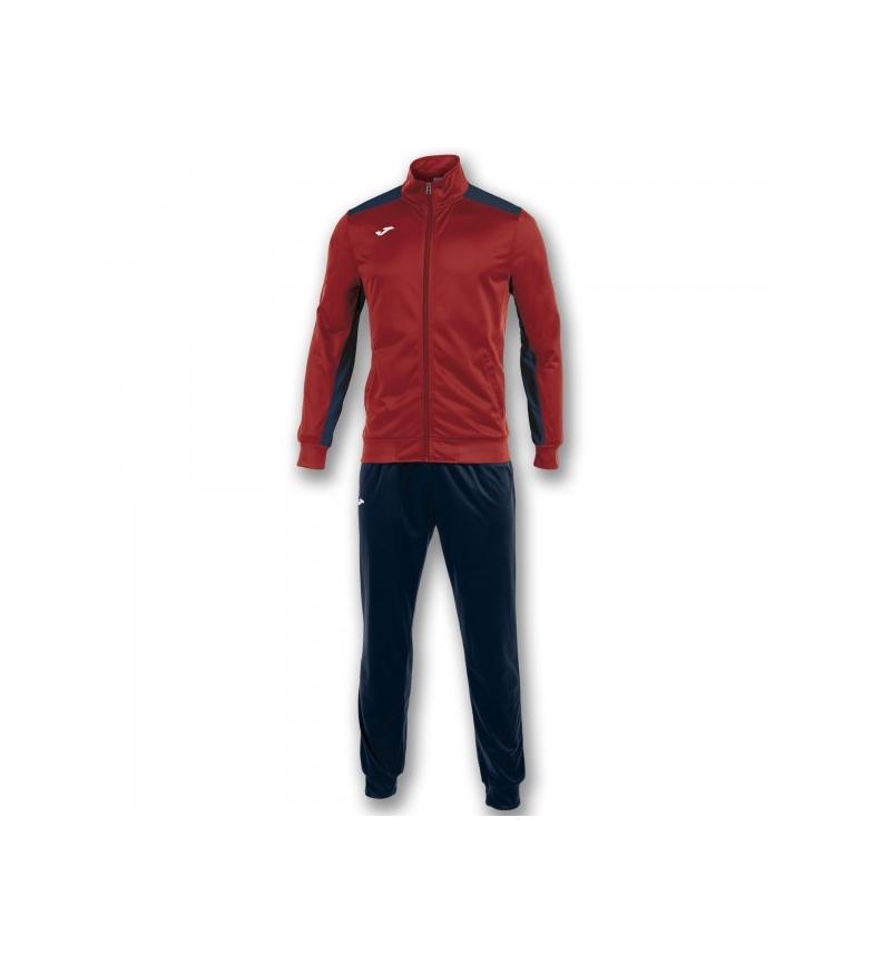 Joma-Tracksuit-Academy-Homme-Rouge-Bleu-Casuel-Sport-Multisport-Manche-longue