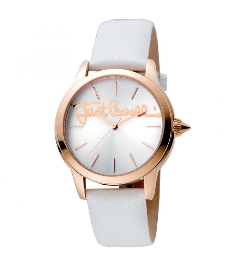 Comprar Just Cavalli Analogic Leather Watch JC1L006L0045 White