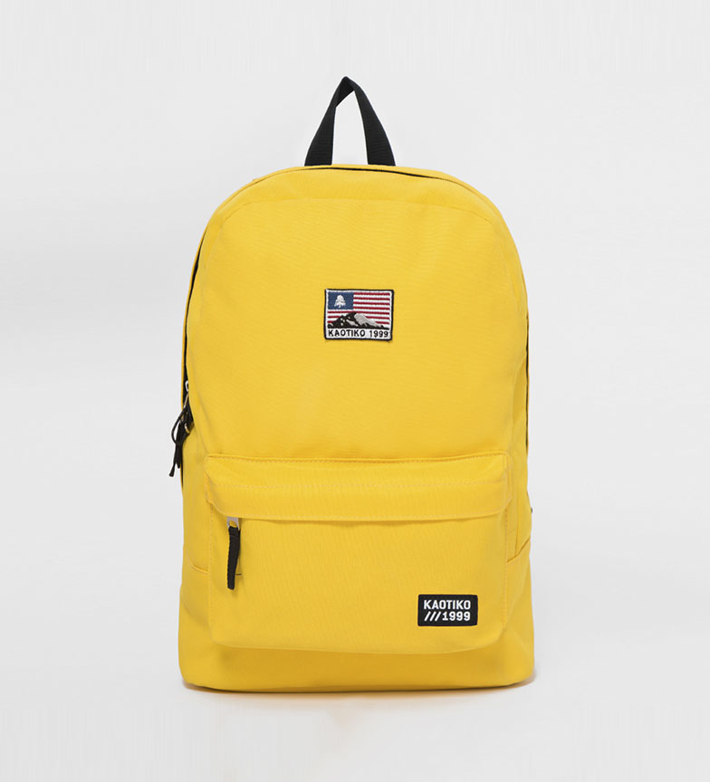 Comprar Kaotiko USA backpack yellow -43x13x30cm