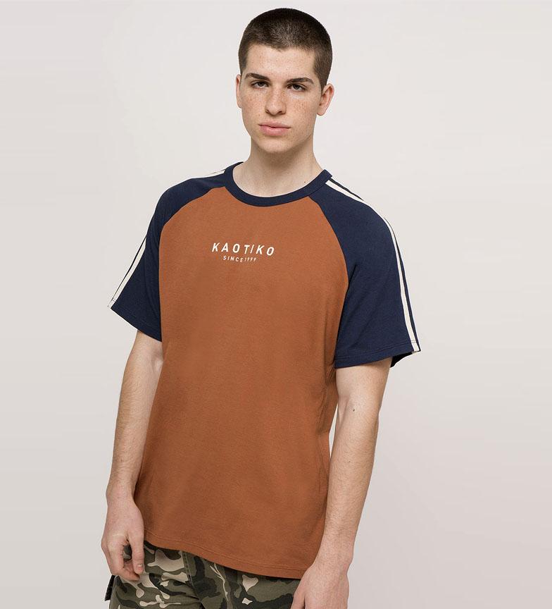 Comprar Kaotiko T-shirt en jaspe et terre cuite