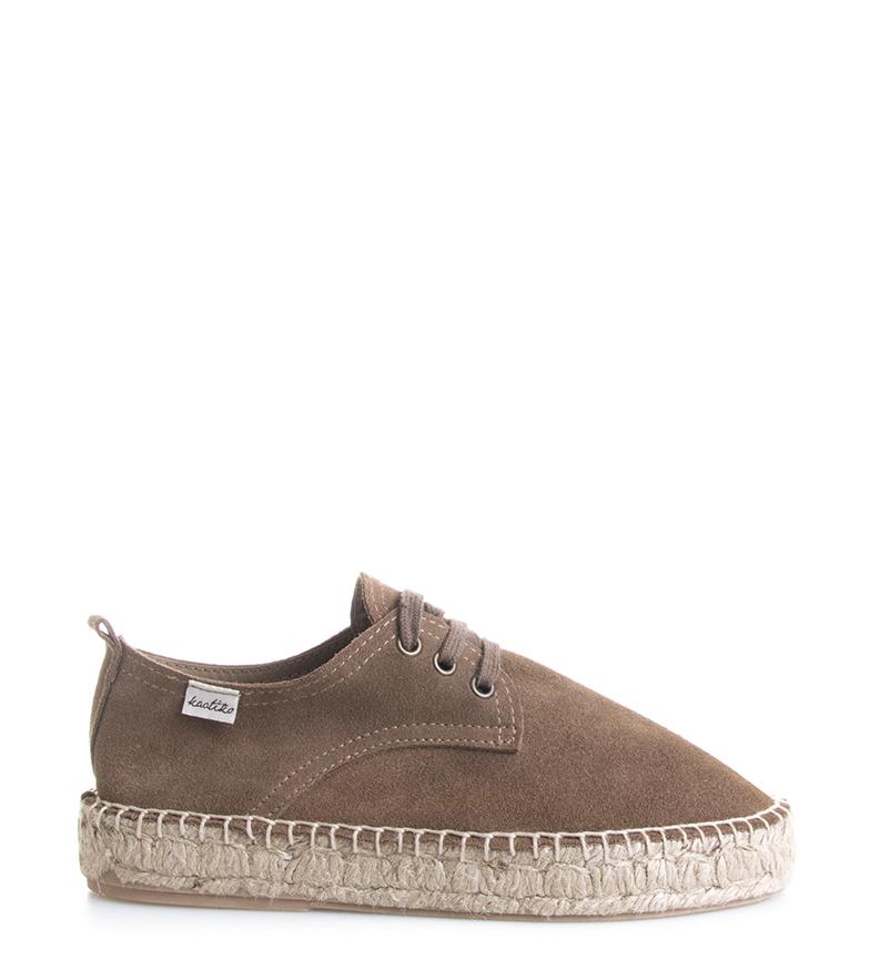Comprar Kaotiko Zapatillas de piel Creta marrón