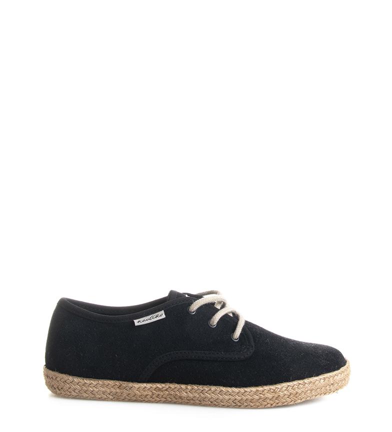 Comprar Kaotiko Black Missouri leather sneakers