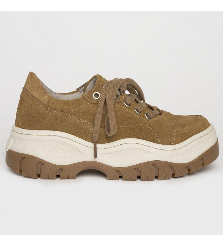 Comprar Kaotiko Mountain camel leather shoes - Platform height 5.5cm