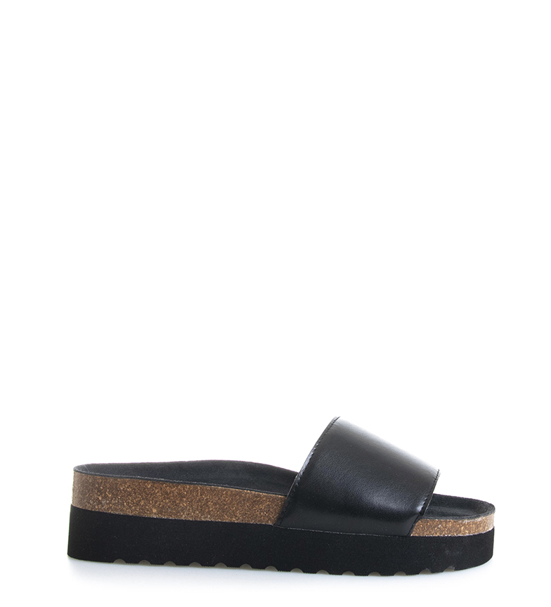 Comprar Kaotiko Sandalias Bio negro -Altura plataforma: 4cm-