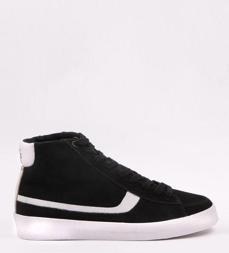 Comprar Kaotiko Zapatillas de piel California negro, blanco