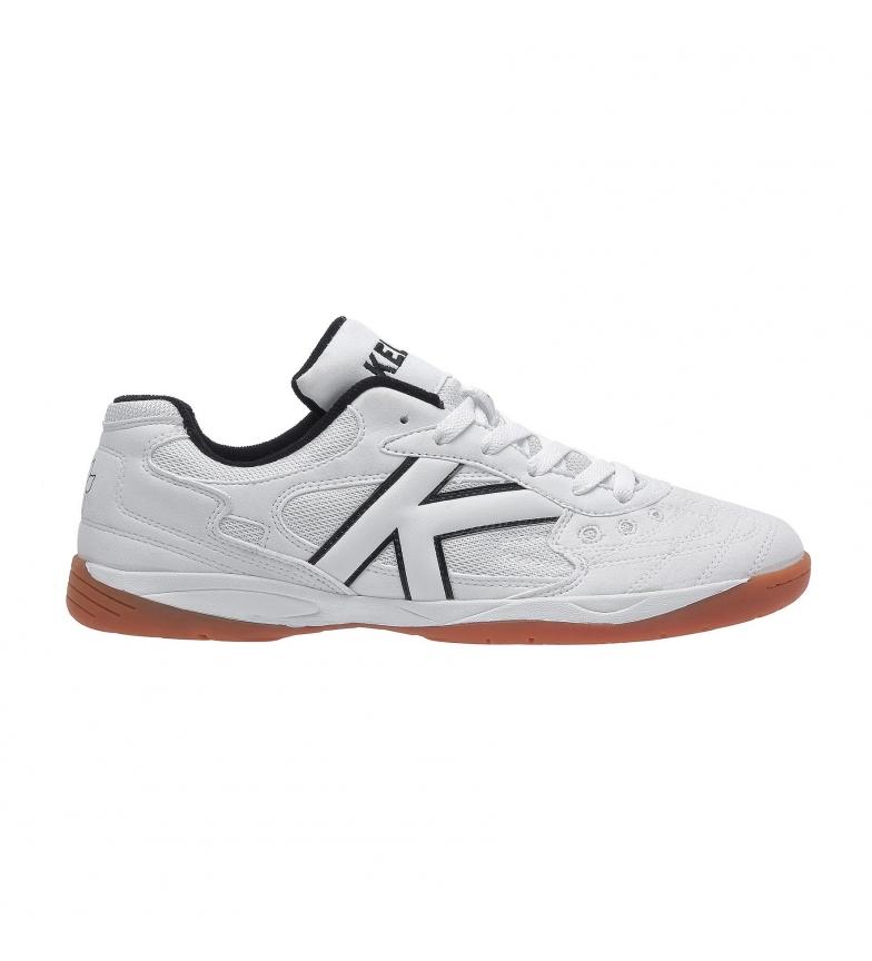 Kelme Zapatillas de piel futsal Indoor Copa blanco