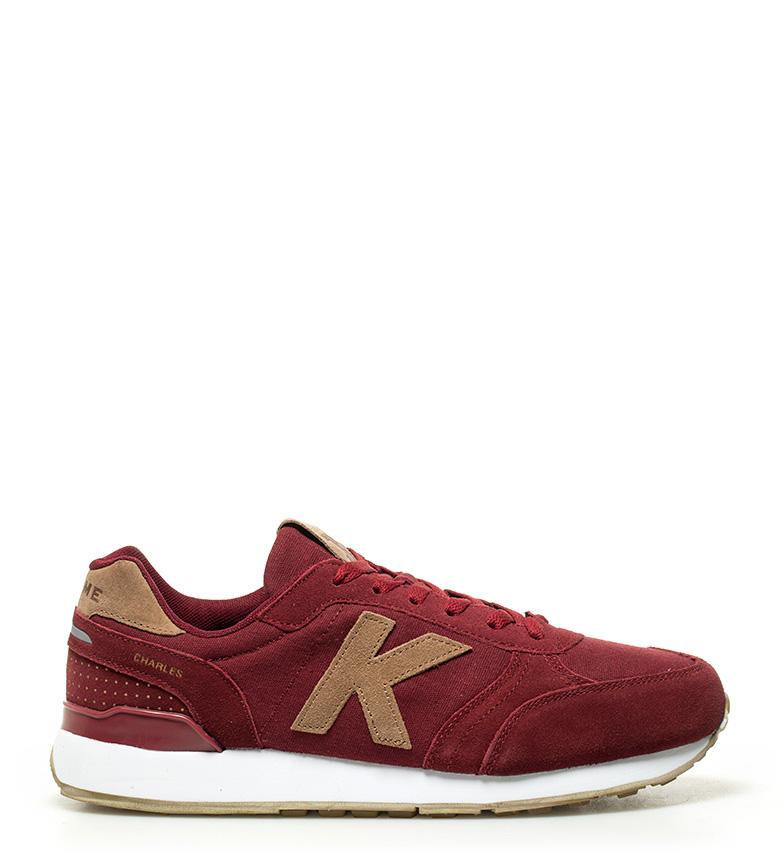 Kelme - Zapatillas de piel Charles Running marrón en2Y8mYFMt