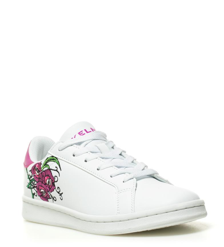 Tennis Kelme Zapatillas Flowers de de lila piel piel Kelme Omaha blanco Zapatillas qqw7nzCa