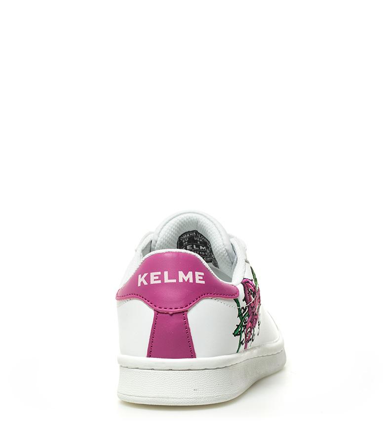Kelme Omaha de piel Flowers Tennis lila blanco Zapatillas rqS6r
