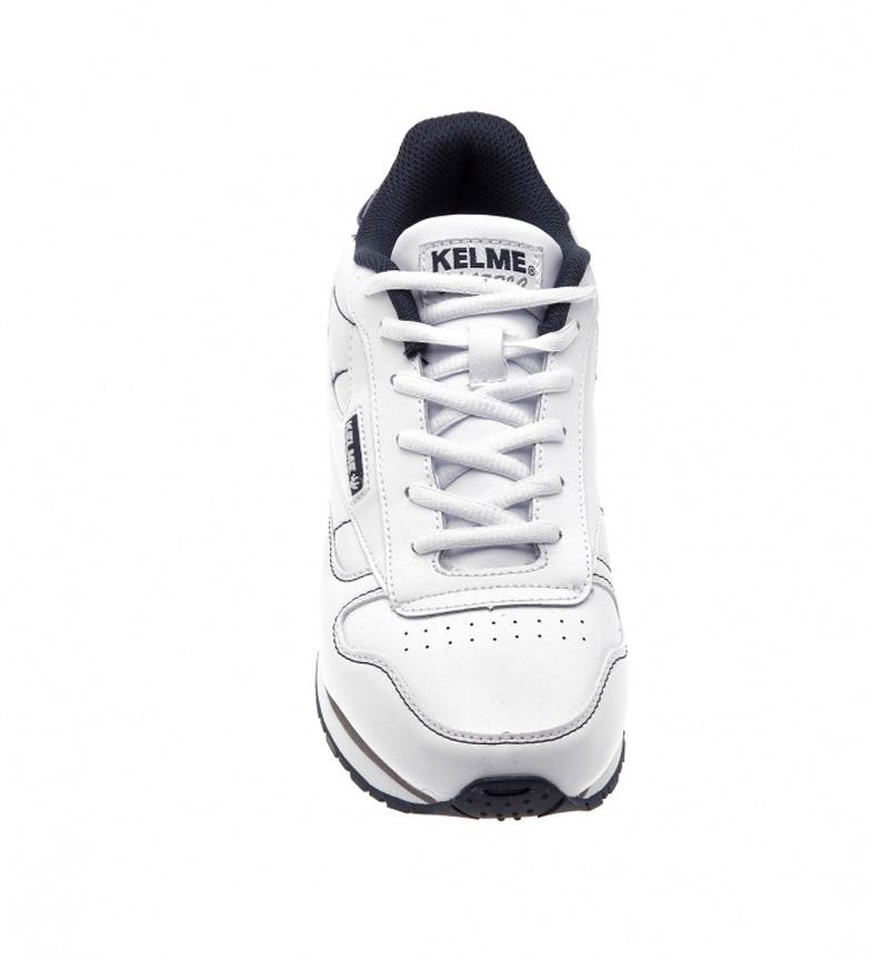 Kelme Zapatillas de piel Victory blanco, marino