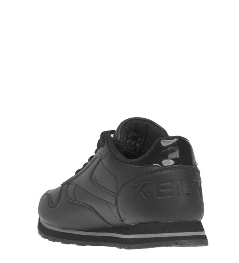 Kelme Zapatillas de piel Victory negro