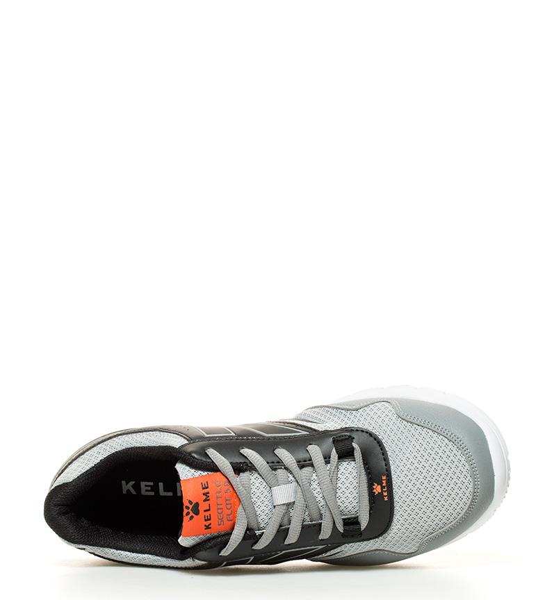 Kelme 5 Flat negro 0 gris Zapatillas running Seattle qIAZwnqRr