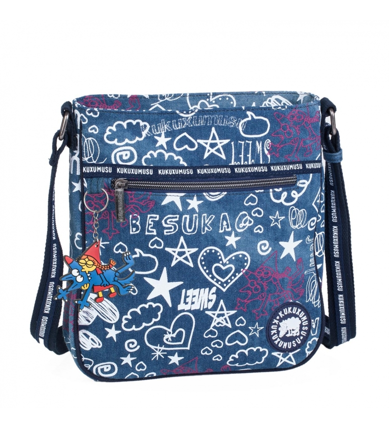 Comprar Kukuxumusu Bolsa de ombro Kukuxumusu Besukao cor azul -27x25x5-