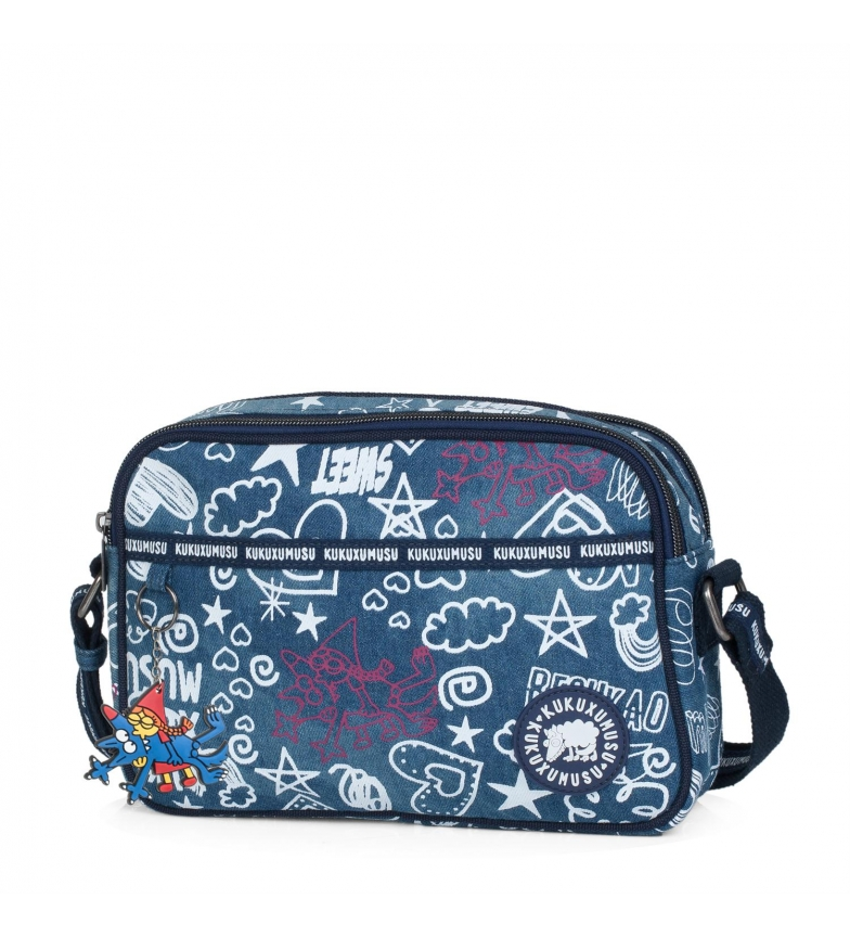 Comprar Kukuxumusu Kukuxumusu shoulder bag Besukao blue color -18x26x7-