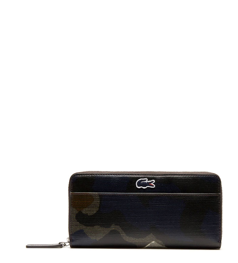 Comprar Lacoste Billetera Robert George camuflaje azul -10x20,6x2,5cm-