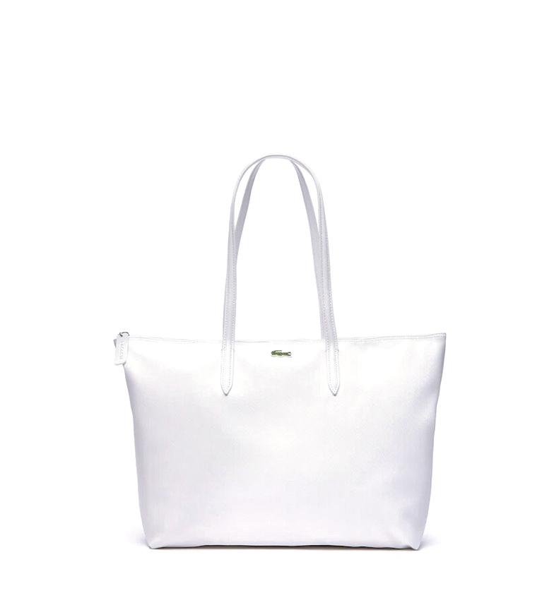 Comprar Lacoste Tote bag L.12.12 Concept bianco -35x30x14cm