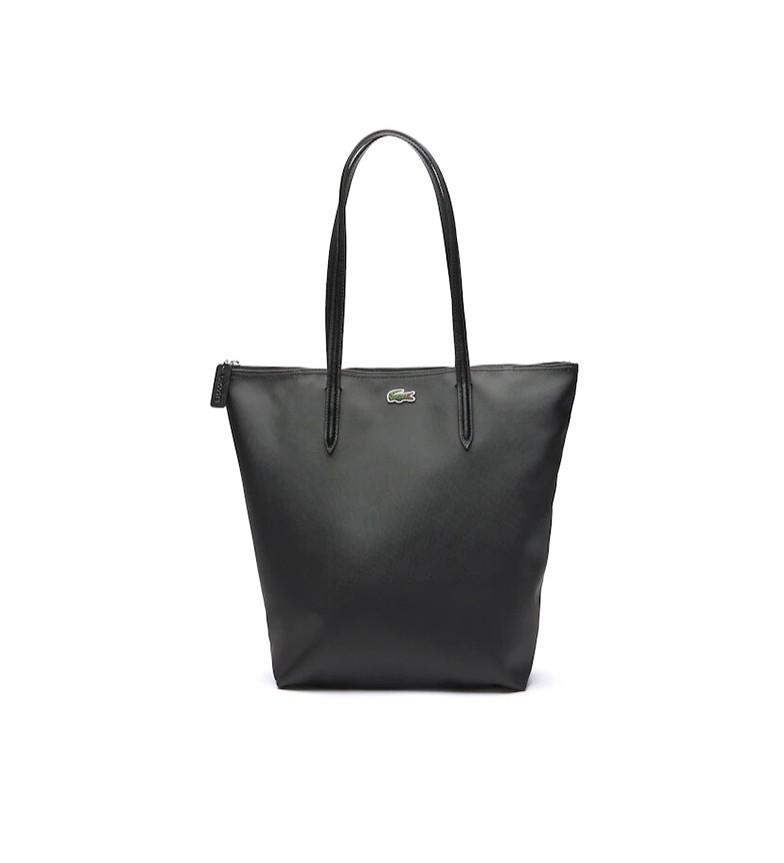 Lacoste Shopping Bag verticale L.12.12 Concept nero -26x35x16cm